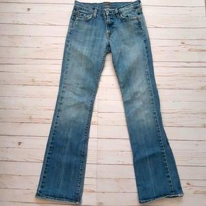 7 FOR ALL MANKIND Bootcut Medium Wash Denim Jeans